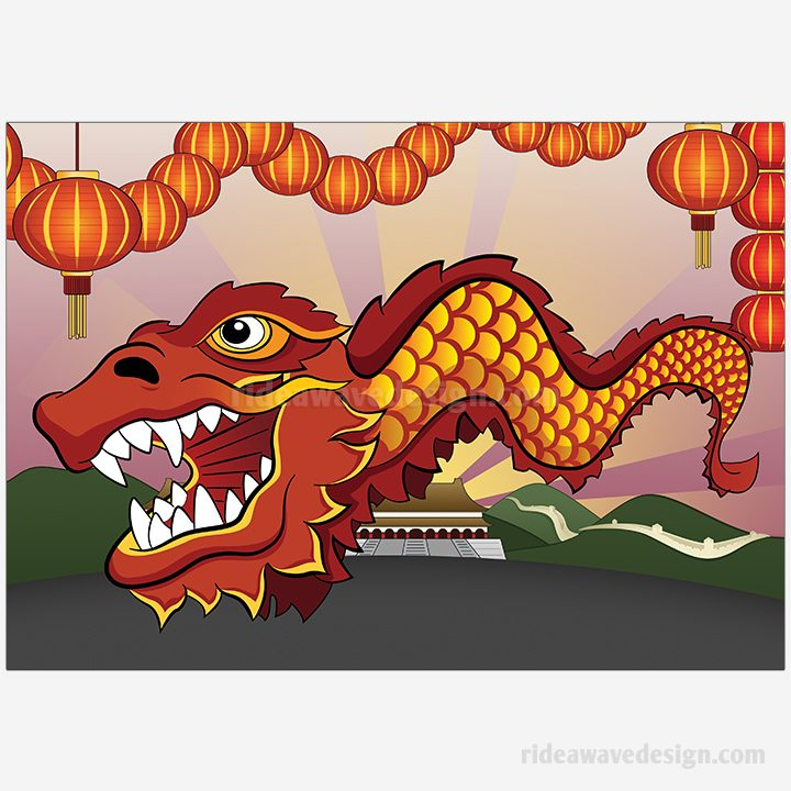 Chinese New Year illustration print