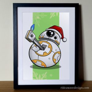 Christmas BB8 Star Wars art print