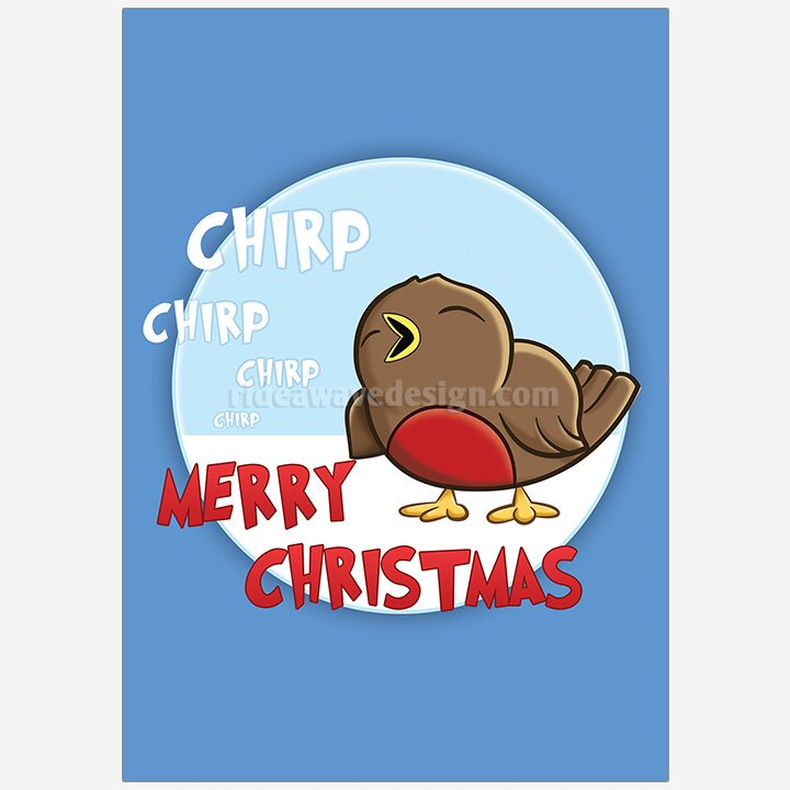 Christmas robin illustration print