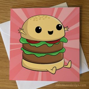 Cute Burger Greeting Card