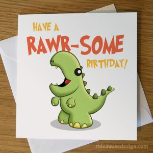 Cute Dinosaur Birthday Card