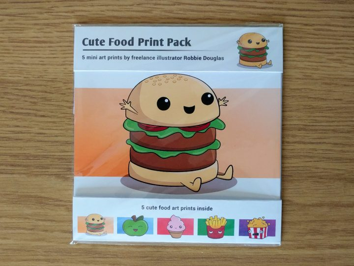 Cute food print pack