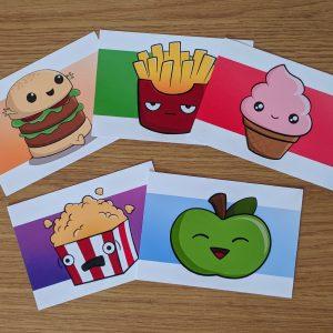 Cute food art prints