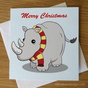 Cute Rhino Christmas Card