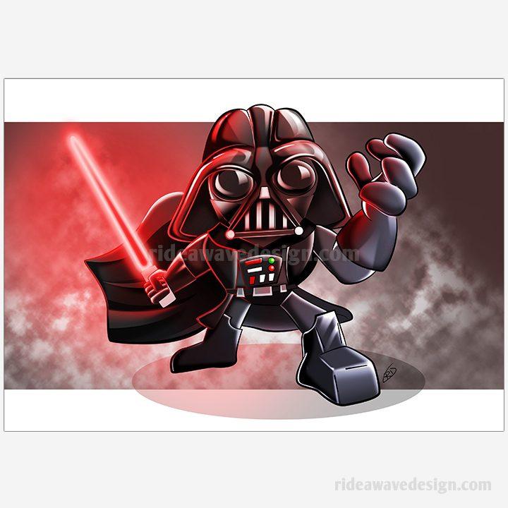 Darth Vader Star Wars illustration print