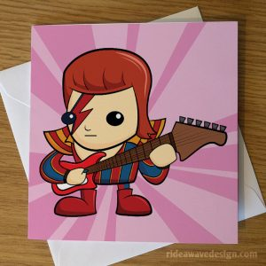 David Bowie Ziggy Stardust Greeting Card
