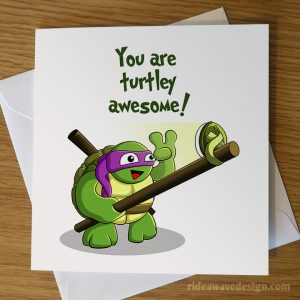 Donatello Turtles Awesome Valentine's Card