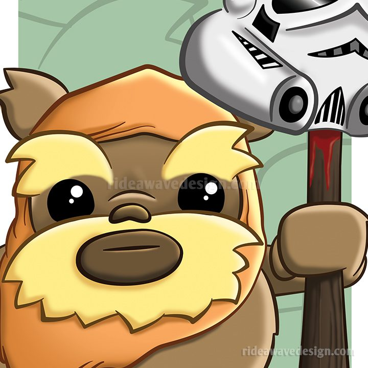 Ewok Star Wars illustration