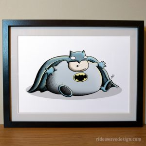 Fat Batman art print