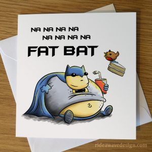 Fat Batman Funny Birthday Card