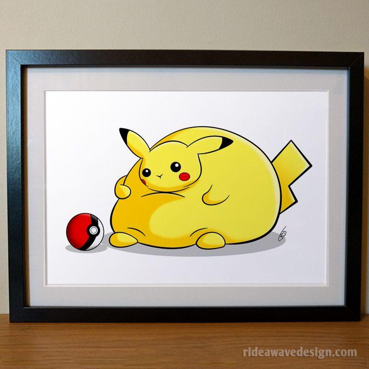 Fat Pikachu art print