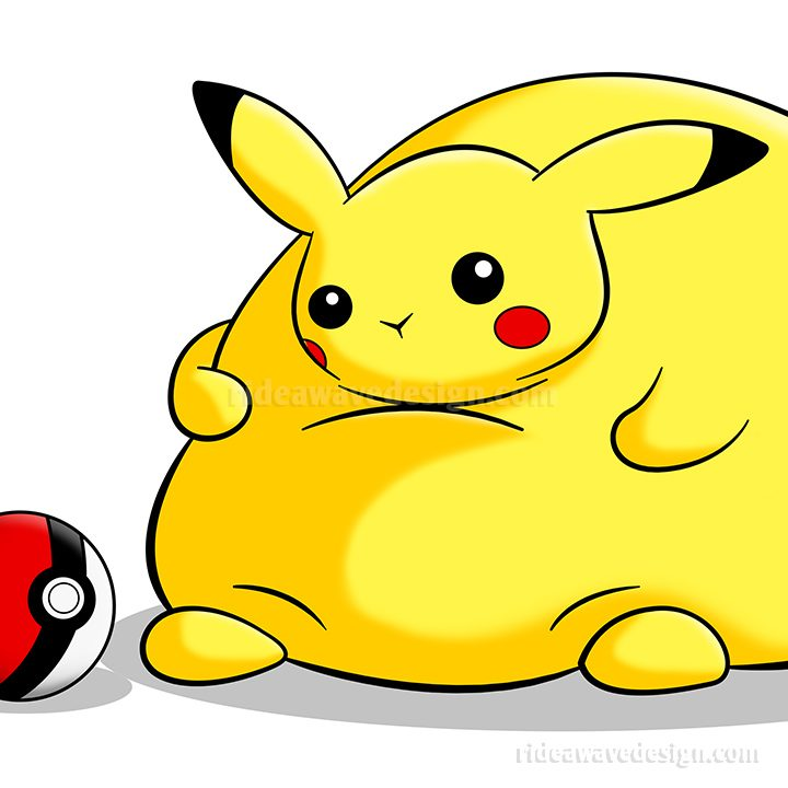 Fat Pikachu illustration