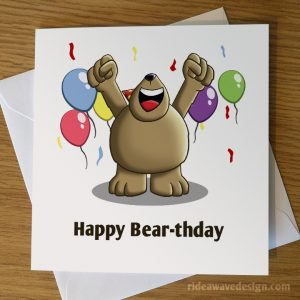 Happy Bear Birthday Card