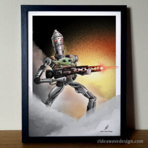 IG-88 Baby Yoda Star Wars Illustration