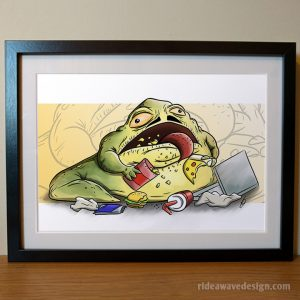 Jabba the Hutt Star Wars art print