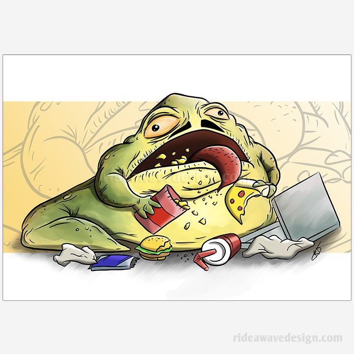 Jabba the Hutt Star Wars illustration print