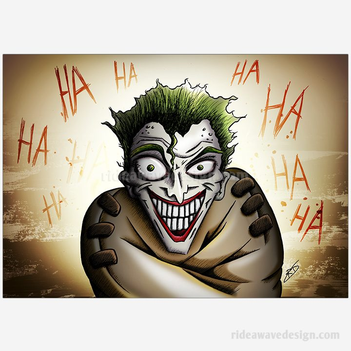 Joker Batman illustration print