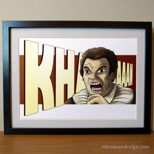 Khan Star Trek art print