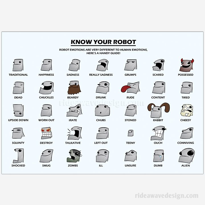Know your robot illustration print