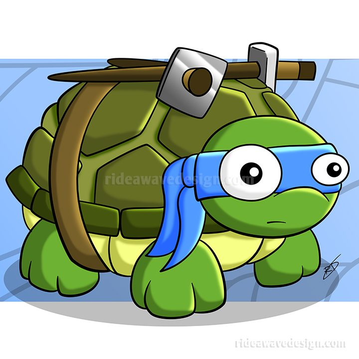 Leonardo ninja turtles illustration