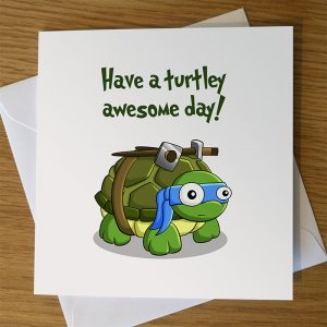 Ninja Turtles Turtley Awesome Birthday Card