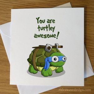 Ninja Turtles Valentine's Day Card