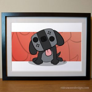Nintendo switch dog art print