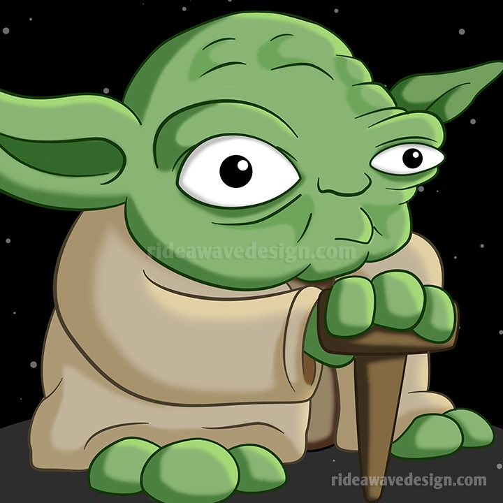 Personalised yoda star wars cartoon