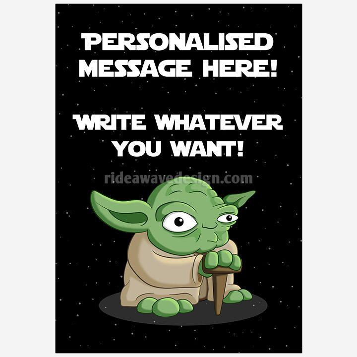 Personalised yoda star wars illustration print