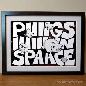 Pigs in space muppets art print