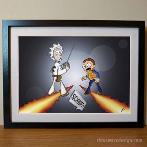 Rick and Morty back to the future art print