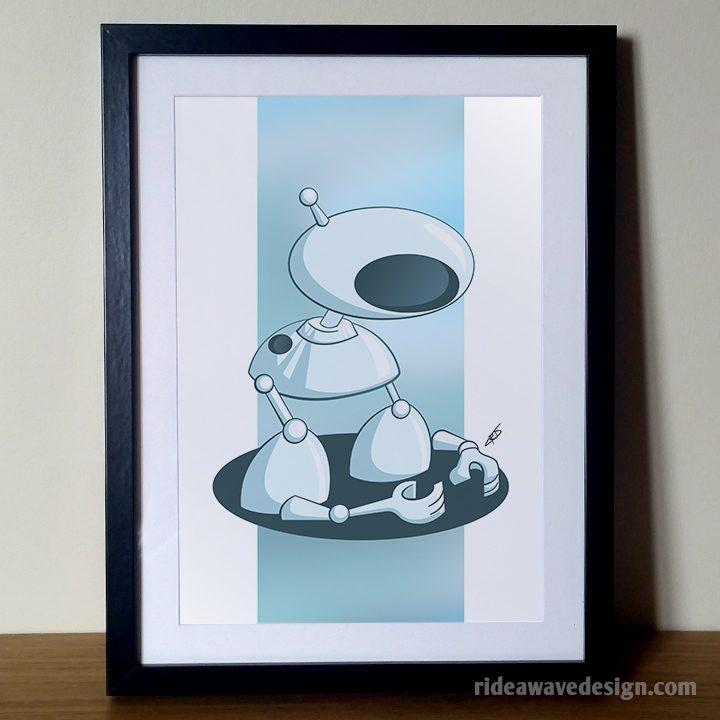 Robot arms art print