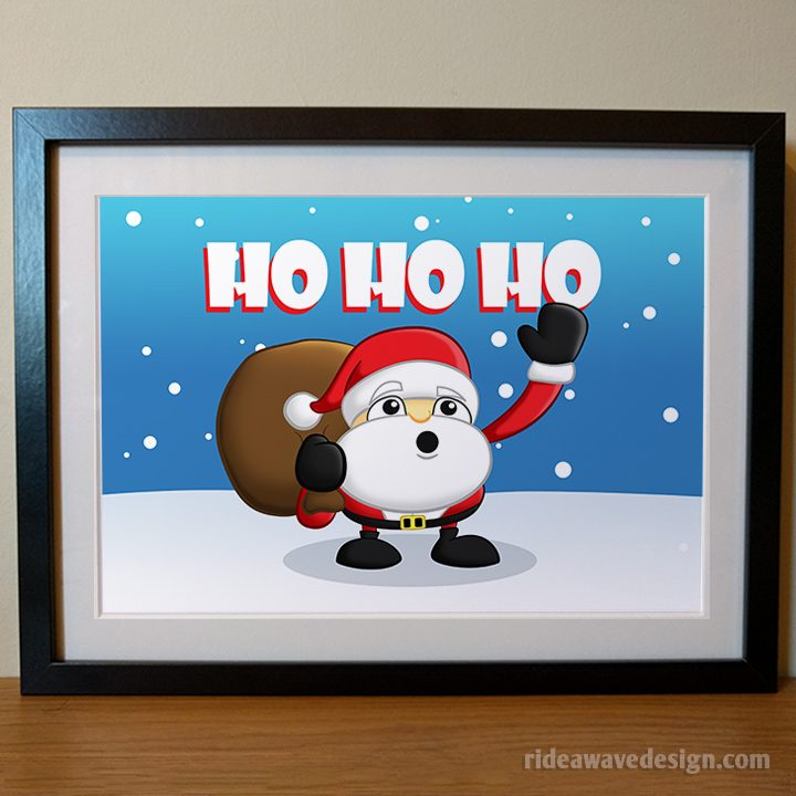 Santa Christmas art print