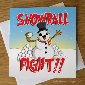 Snowball Fight Christmas Card