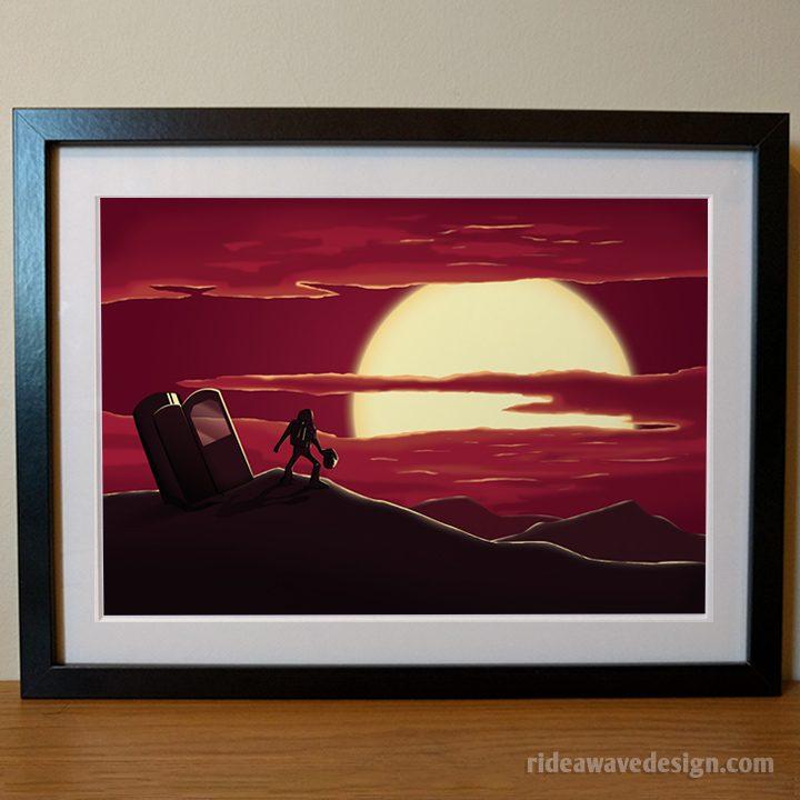 Space scene art print