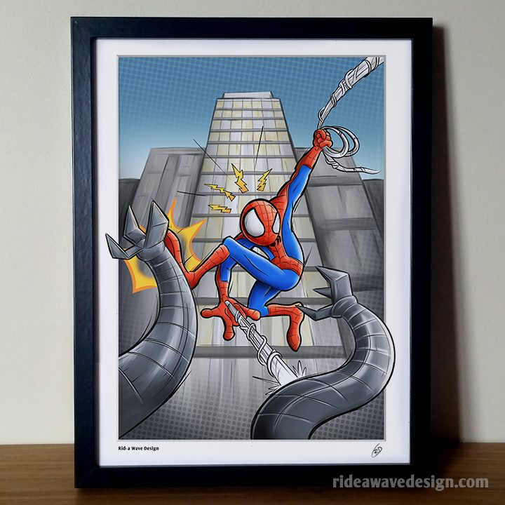 Spiderman cartoon art print