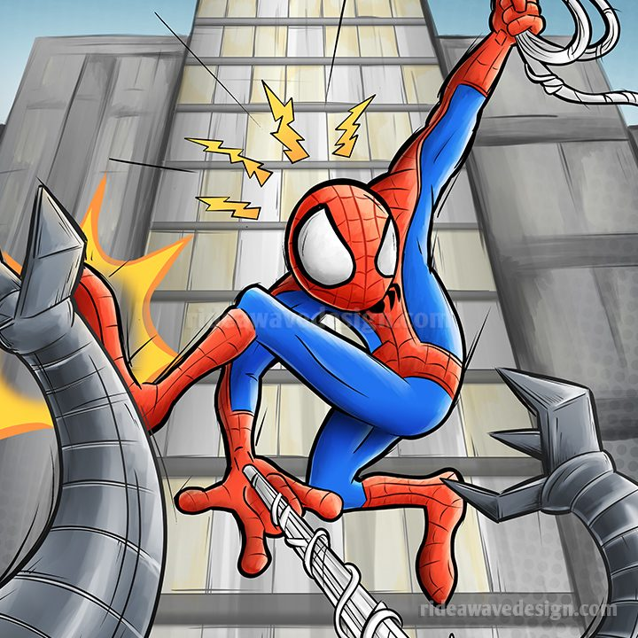 Spiderman cartoon illustration