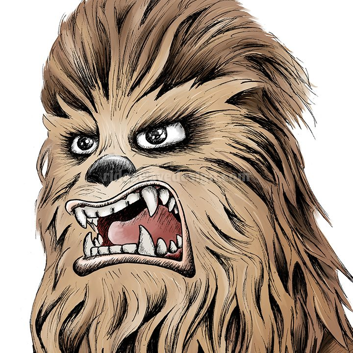 Star Wars Chewbacca Digital Print