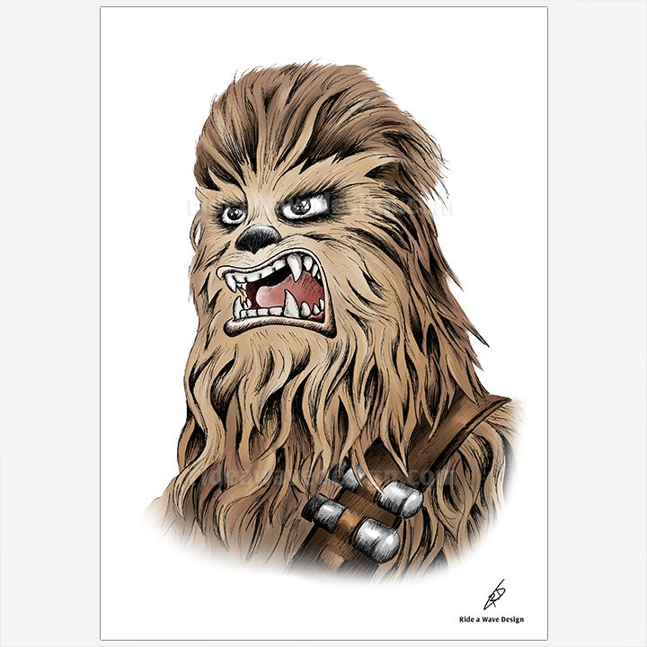 Star Wars Chewbacca Art Print