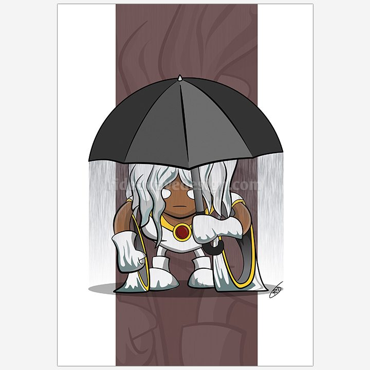 Storm xmen illustration print