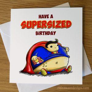 Superman Birthday Card