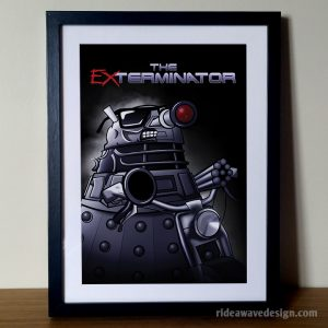 Terminator dalek art print