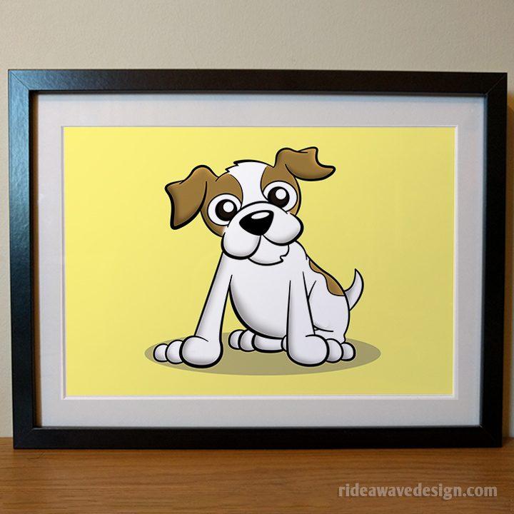 Terrier cartoon pet portrait
