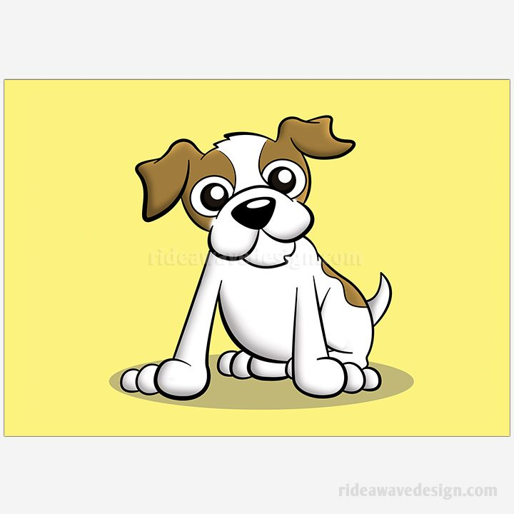 Terrier cartoon pet portrait illustration