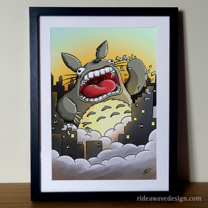 Totoro studio ghibli art print