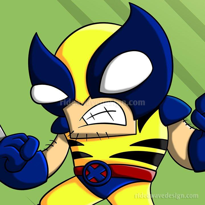 Wolverine xmen cartoon illustration