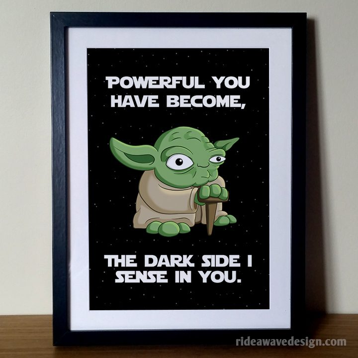 Yoda star wars art print