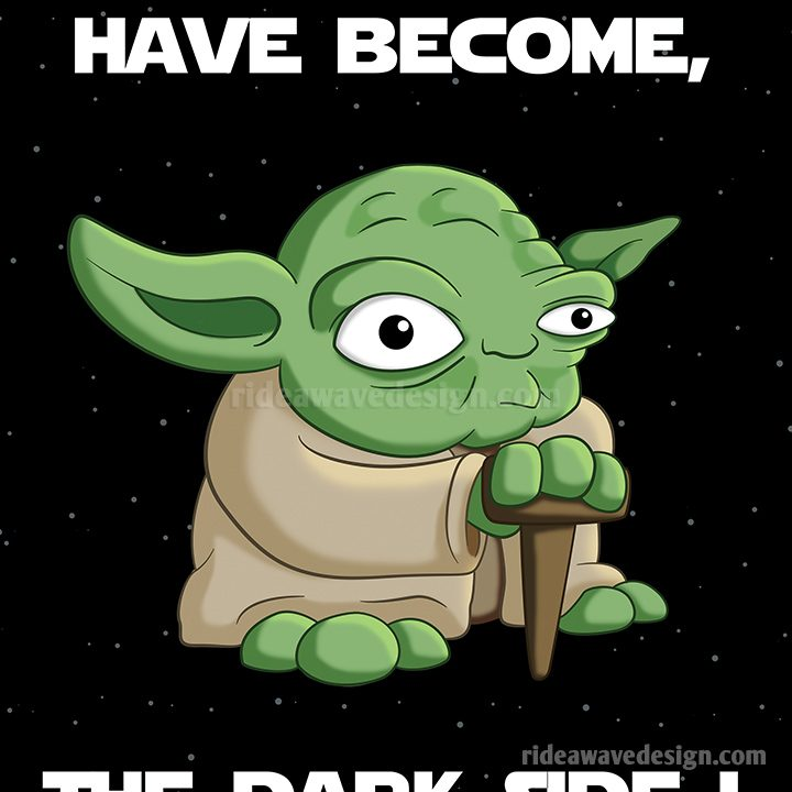 Yoda star wars cartoon poster