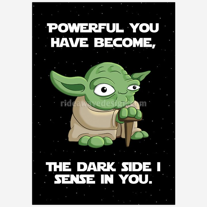 Yoda star wars illustration print