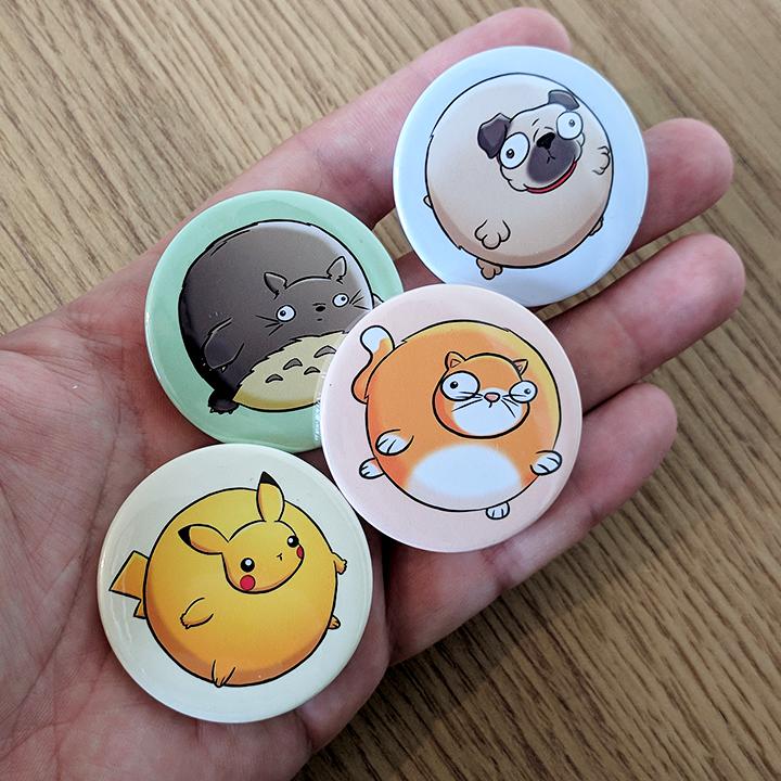 Bubble Buddy Pin Badges